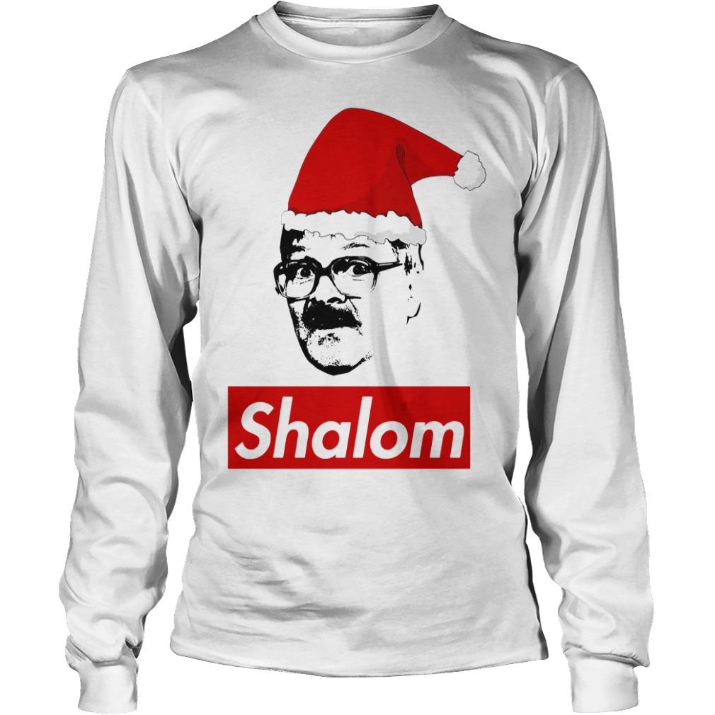 Shalom Santa Christmas Longsleeve Tee