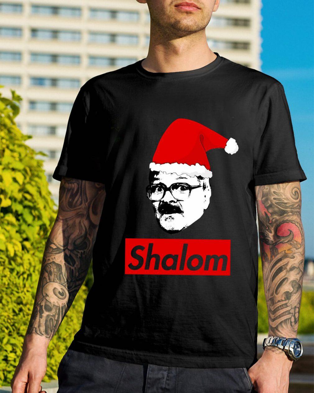 Shalom Santa Christmas Ladies Tee