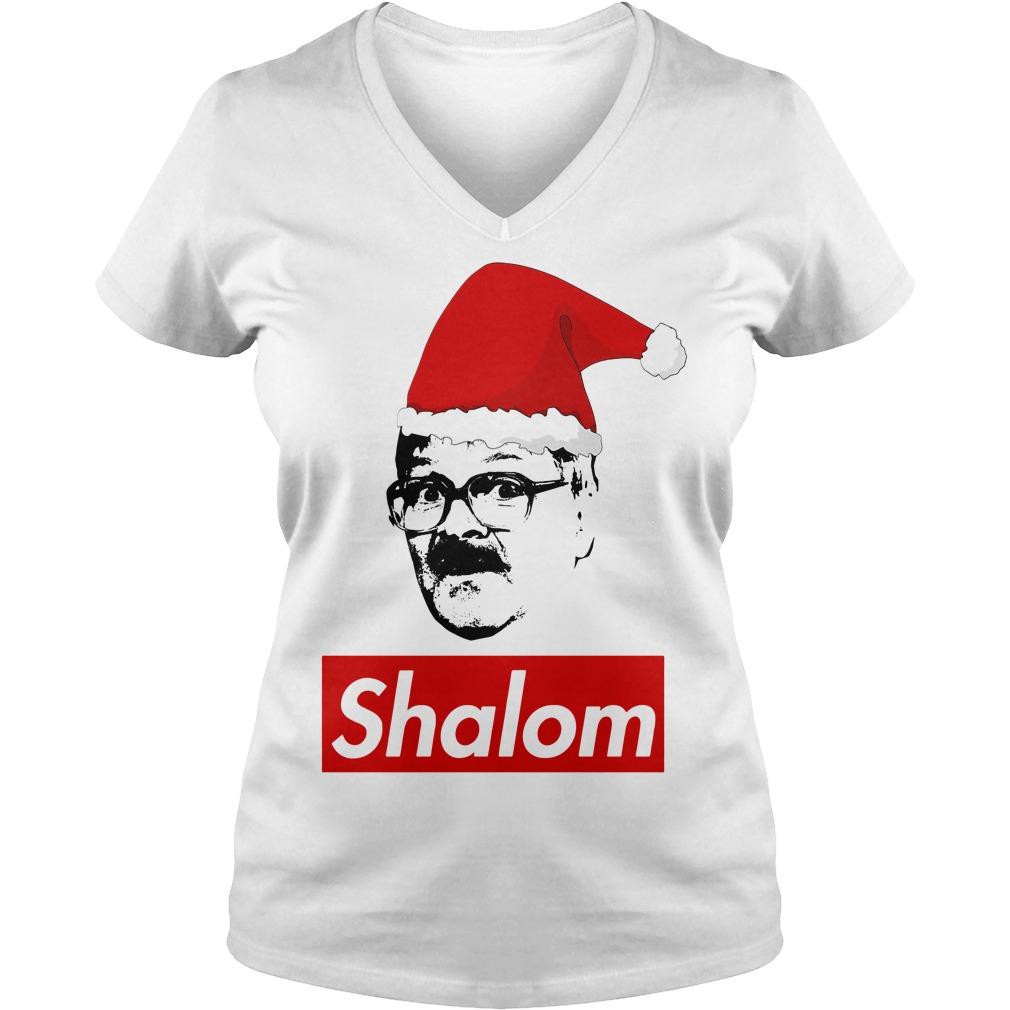 Shalom Santa Christmas V-neck T-shirt
