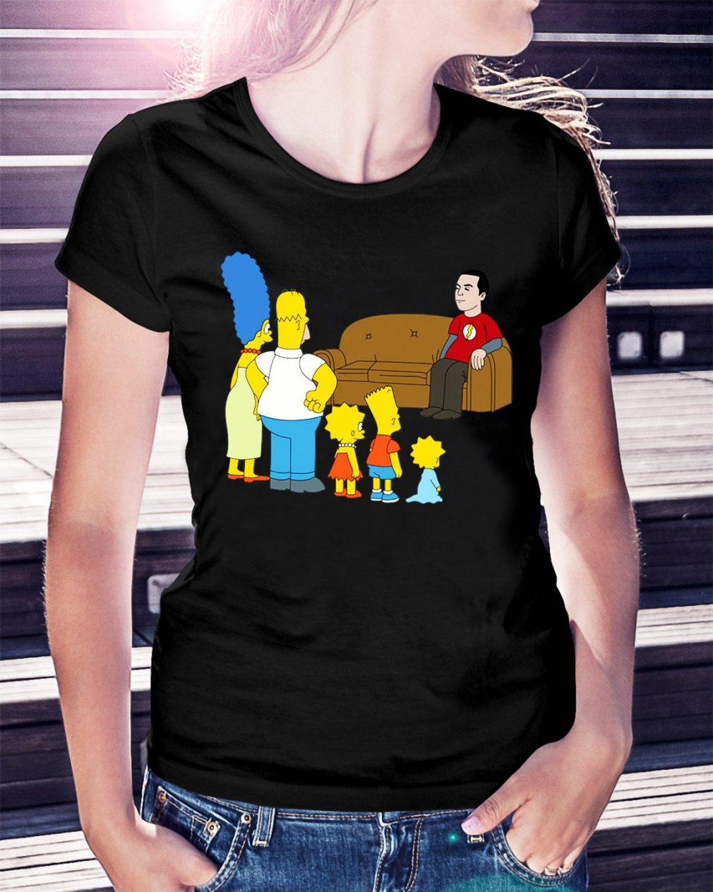 The Simpsons Sheldon Cooper - Bazinga Ladies Tee