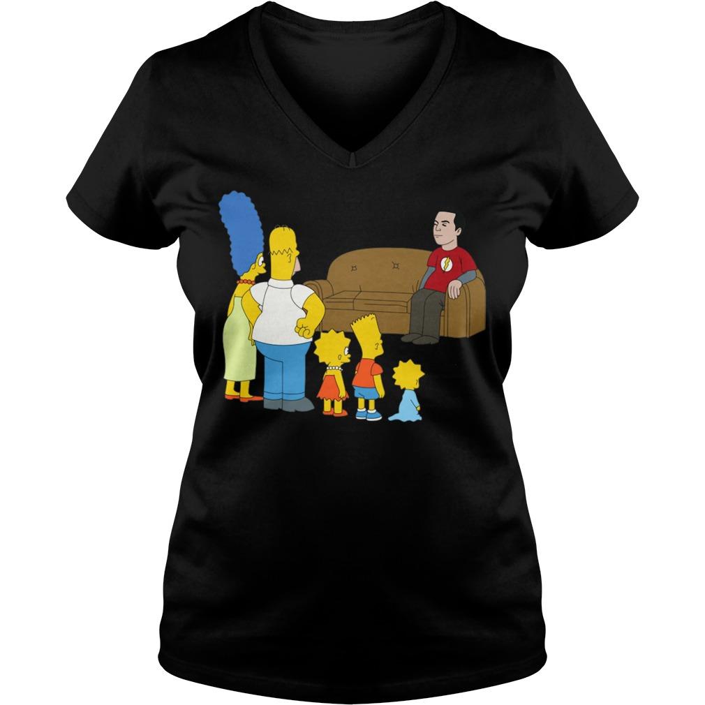 The Simpsons Sheldon Cooper - Bazinga V-neck T-shirt