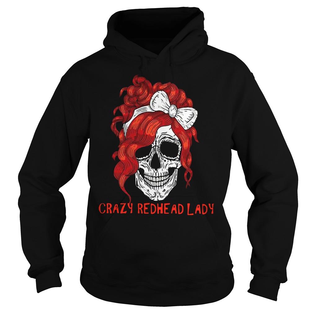 Skull crazy redhead lady Hoodie
