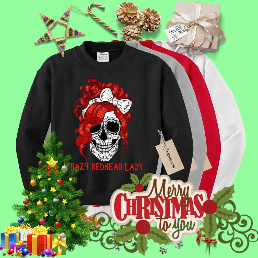 Skull crazy redhead lady Sweater