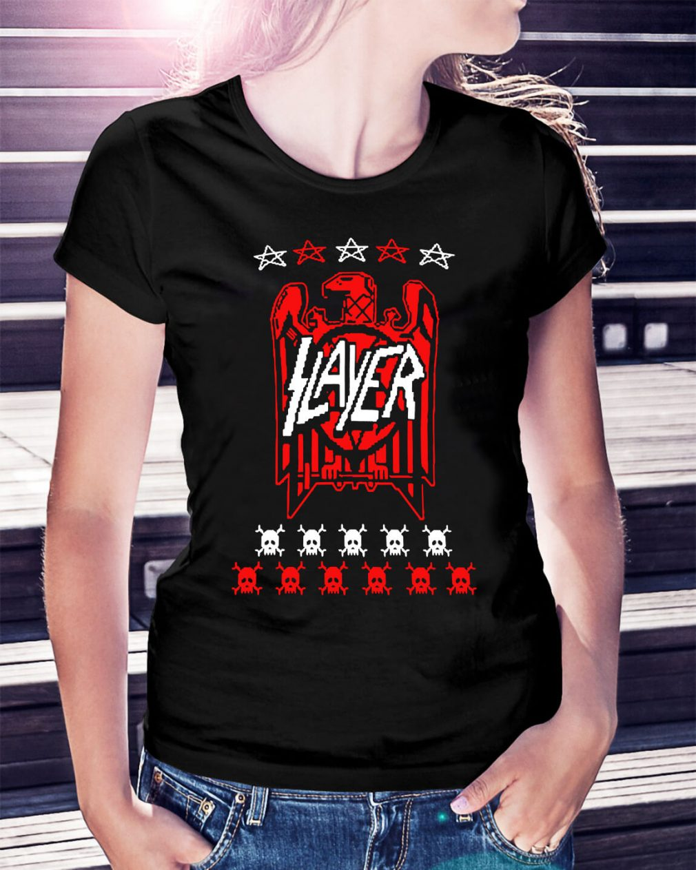 Slayer eagle skull Ladies Tee