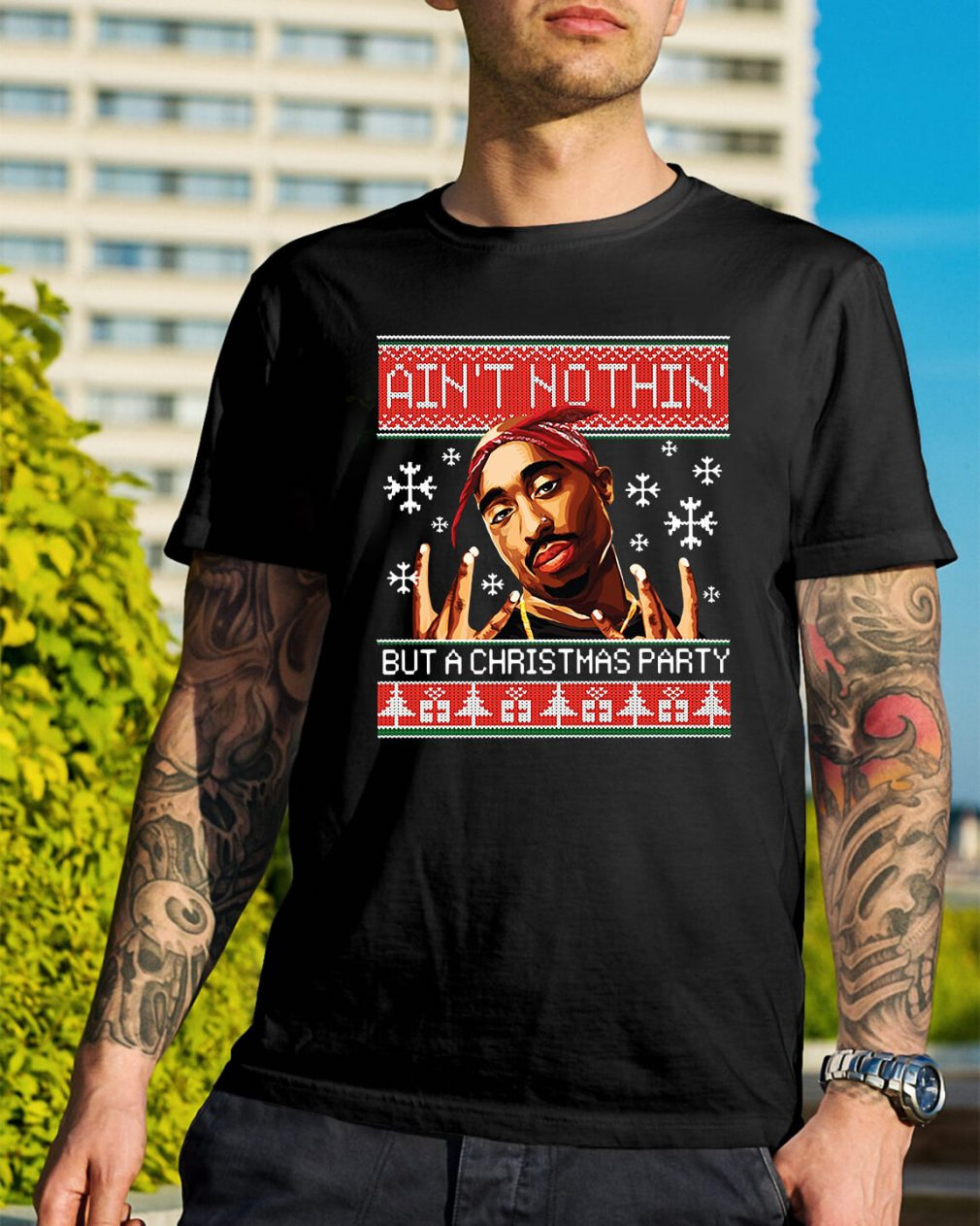 Snoop Dogg Ain't nothin but a Christmas party ugly Guys Shirt