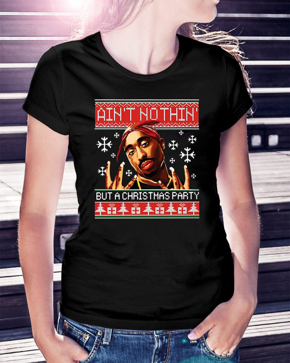 Snoop Dogg Ain't nothin but a Christmas party ugly Ladies Tee