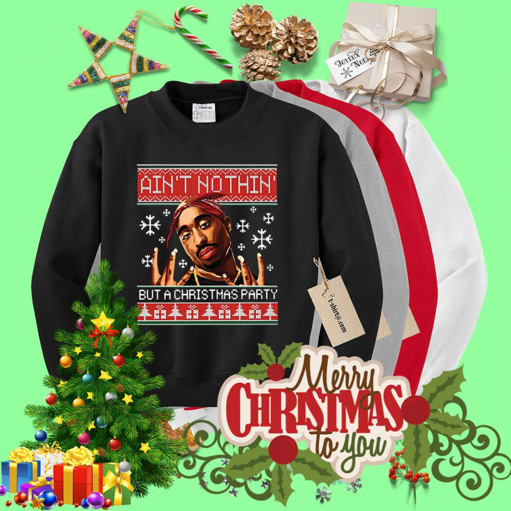 Snoop Dogg Ain't nothin but a Christmas party ugly sweater