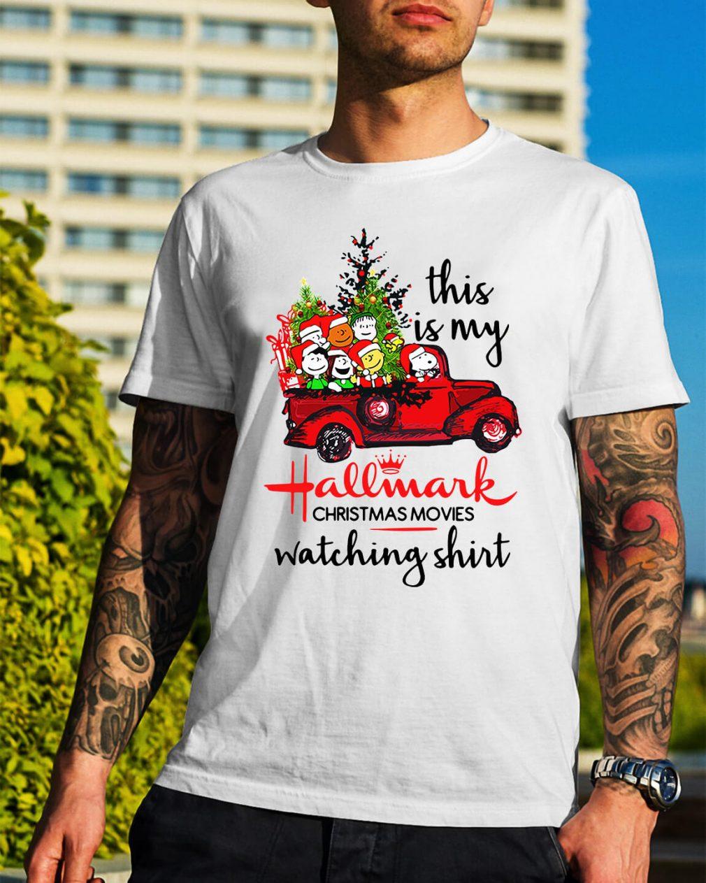 Snoopy and Peanut this is my Hallmark Christmas movie Guys Shirt
