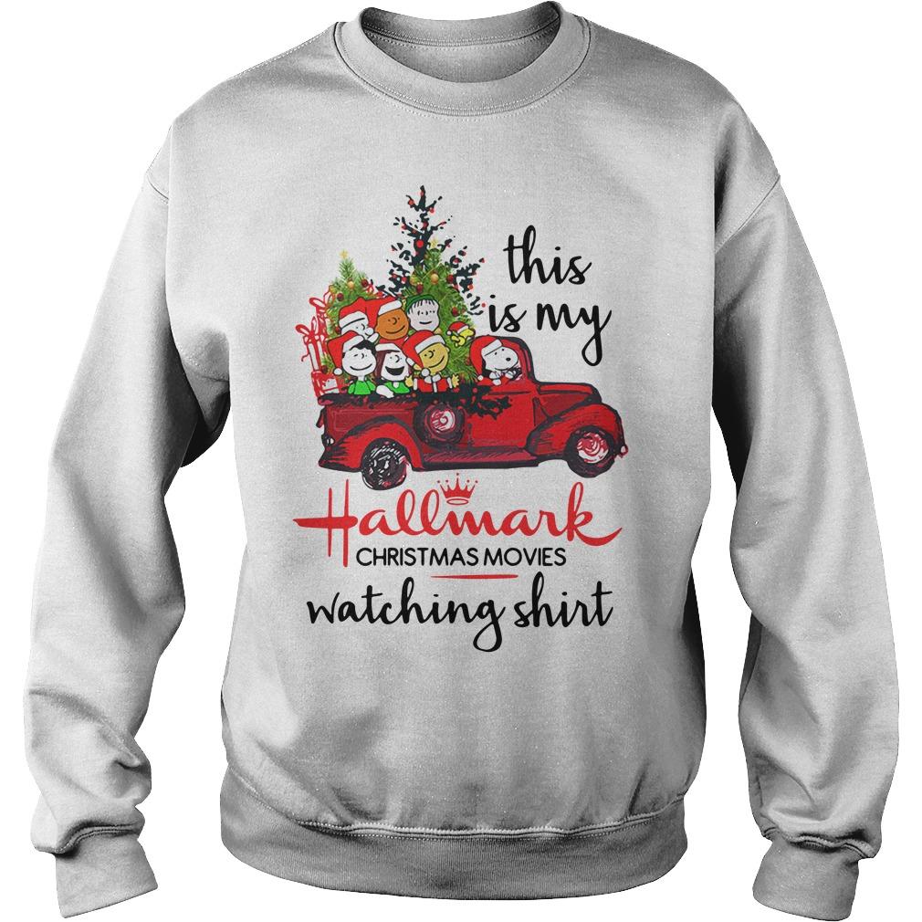Snoopy and Peanut this is my Hallmark Christmas movie Sweater