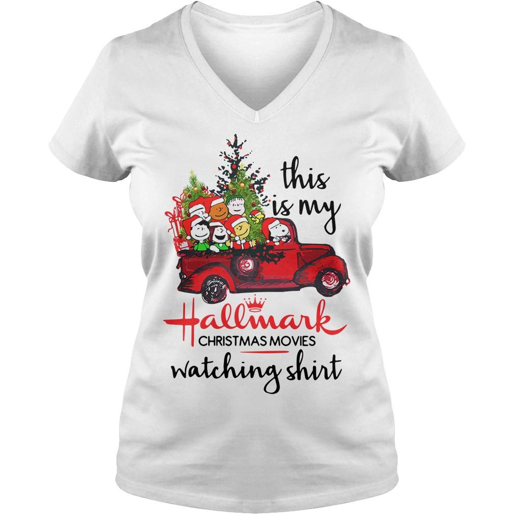 Snoopy and Peanut this is my Hallmark Christmas movie V-neck T-shirt