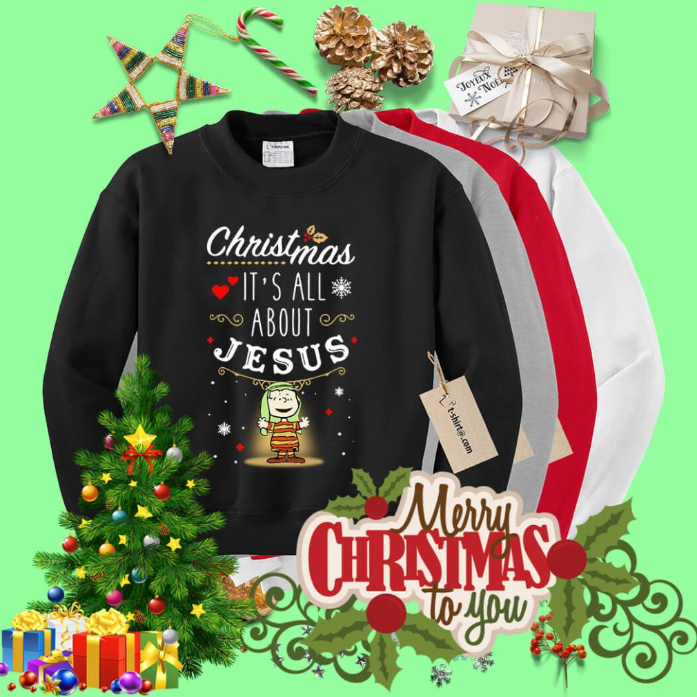 Snoopy Christmas it's all about Jesus shirt, sweater
