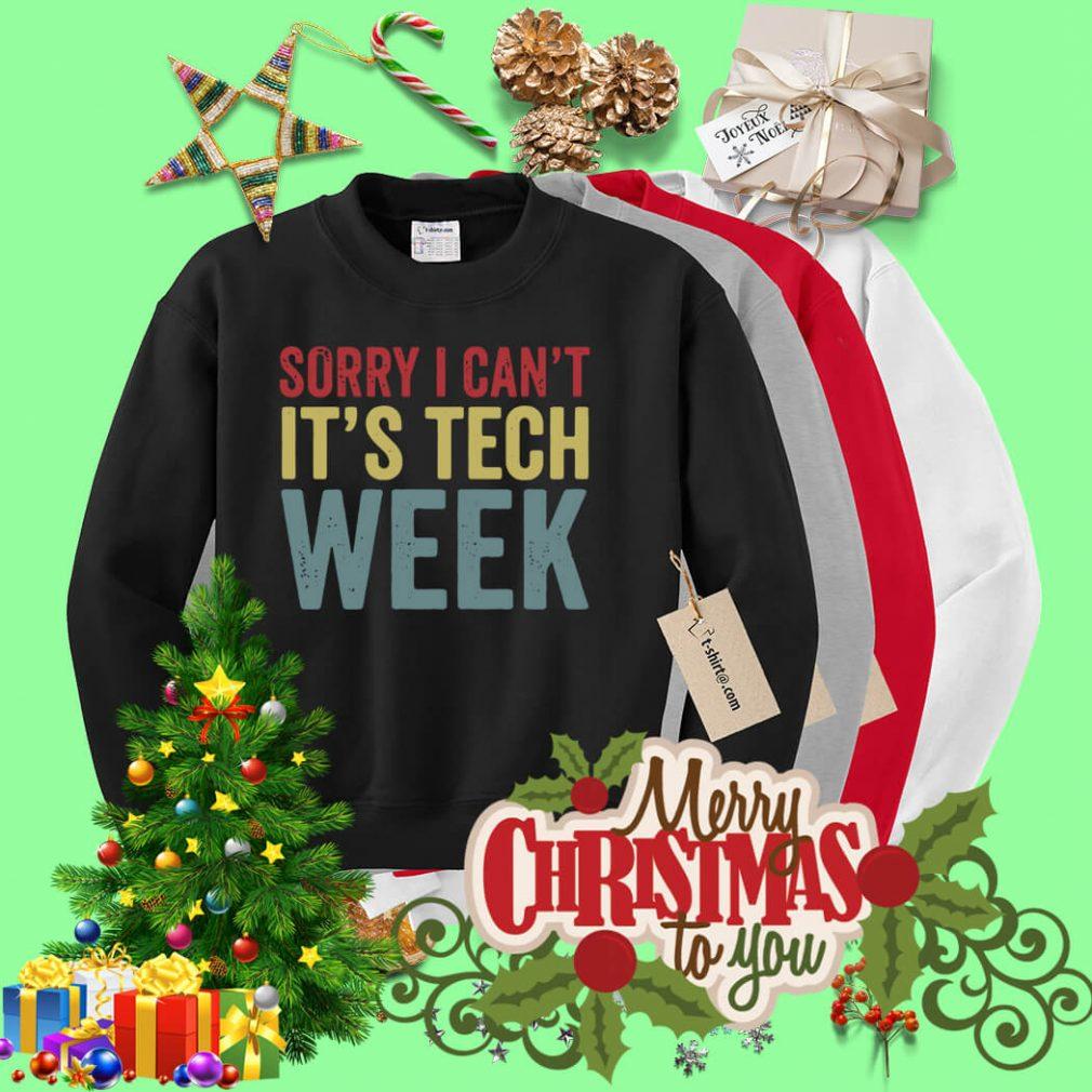 Sorry I can't it's tech week Sweater