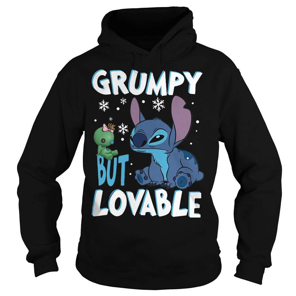 Stitch grumpy but lovable Christmas Hoodie