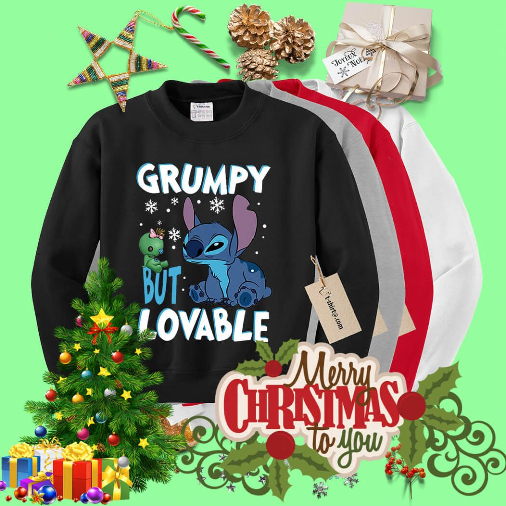 Stitch grumpy but lovable Christmas shirt, sweater