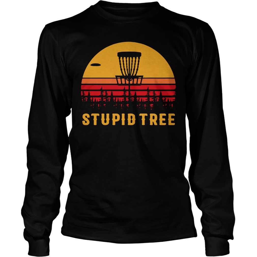 Stupid tree sunset Longsleeve Tee
