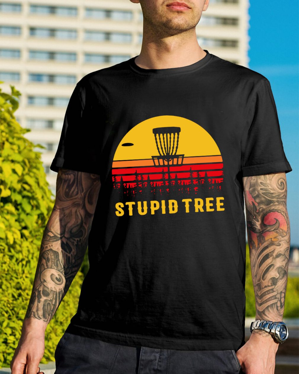 Stupid tree sunset shirt