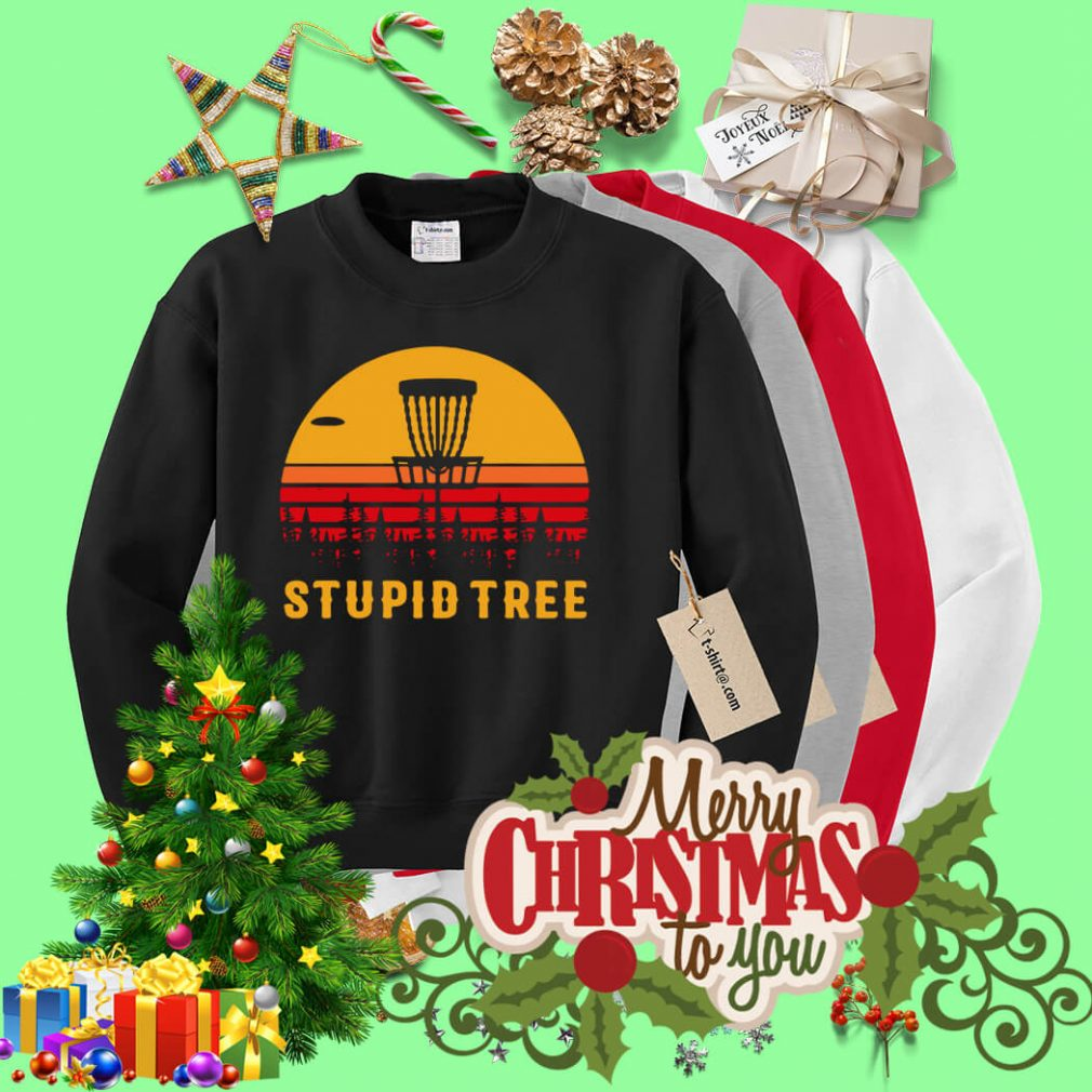 Stupid tree sunset Sweater