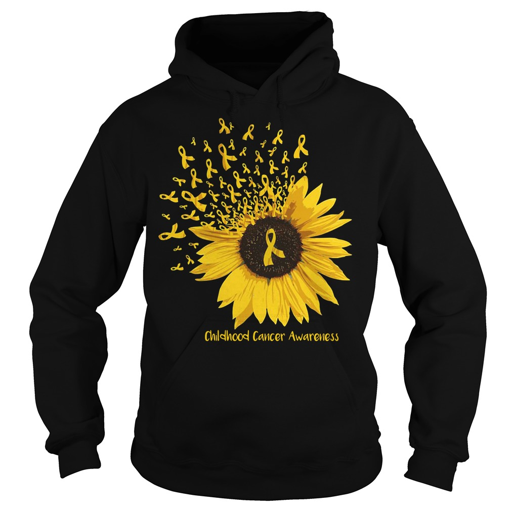Sunflower childhood cancer awareness Hoodie