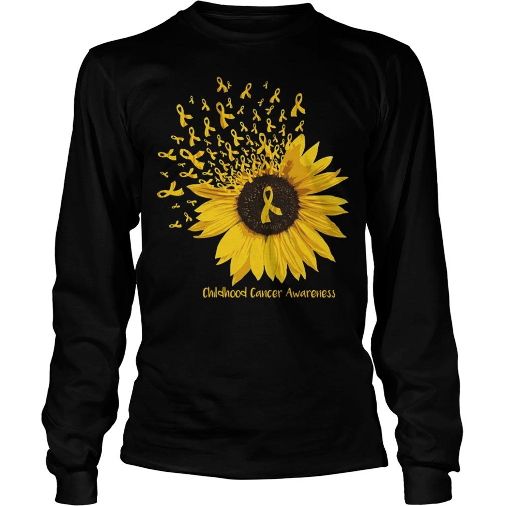 Sunflower childhood cancer awareness Longsleeve Tee