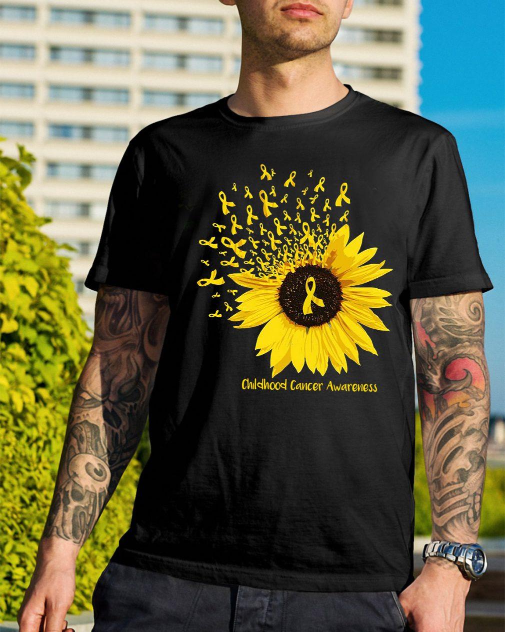 Sunflower childhood cancer awareness shirt