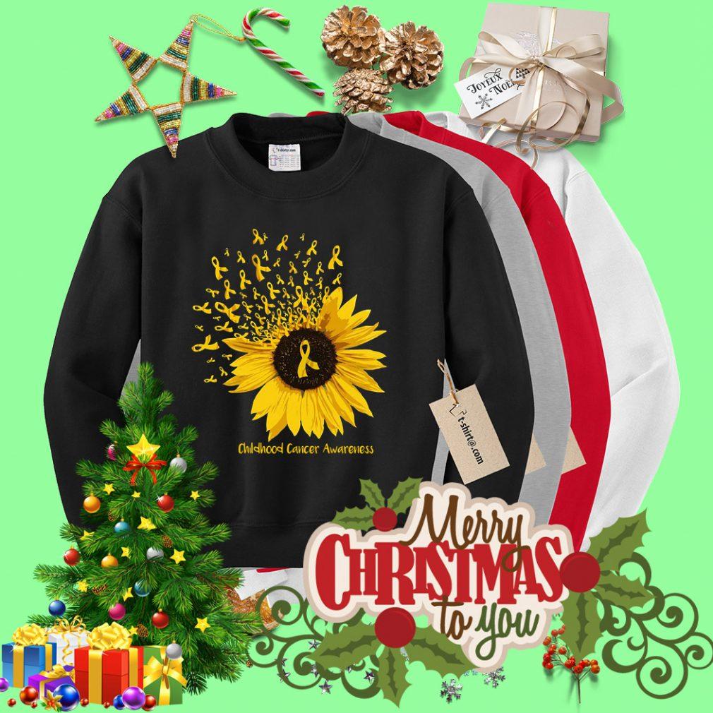 Sunflower childhood cancer awareness Sweater