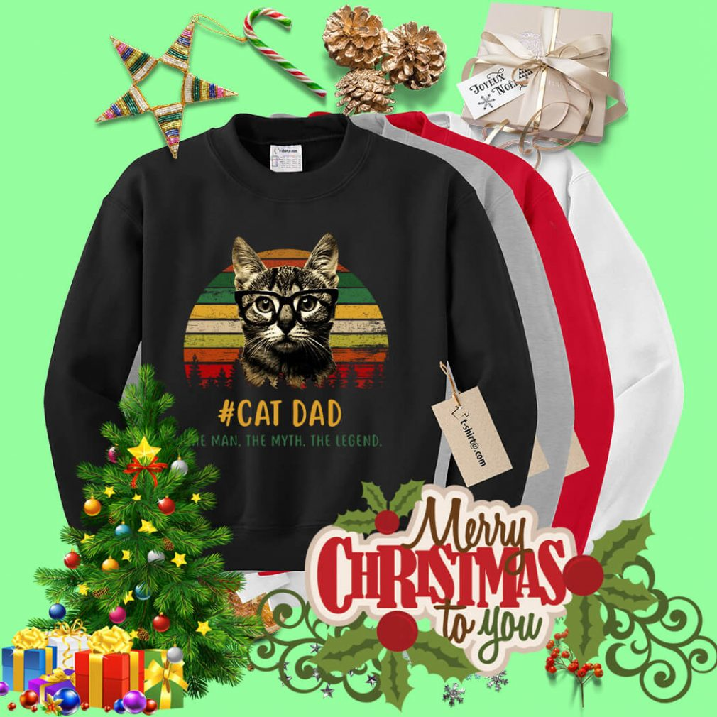 Sunset cat dad the man the myth the legend Sweater