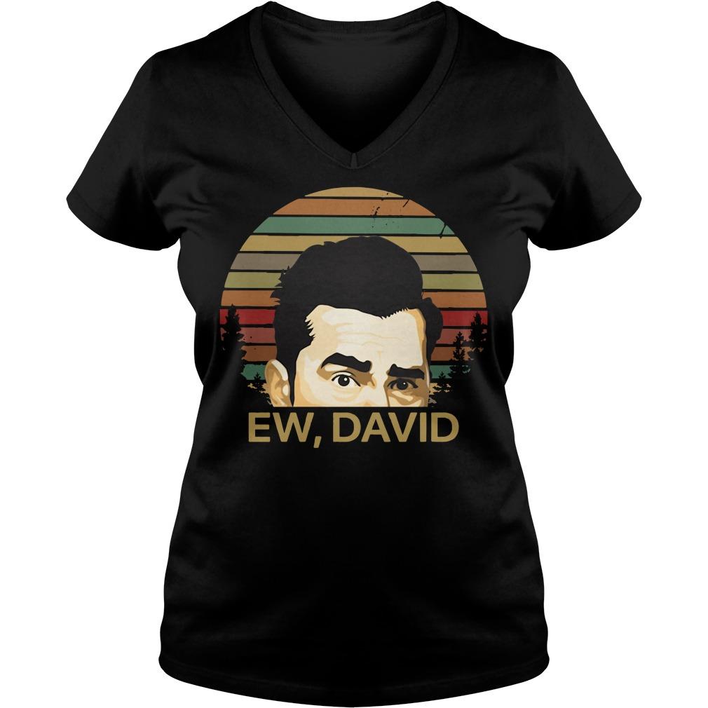 Sunset Ew David Name V-neck T-shirt