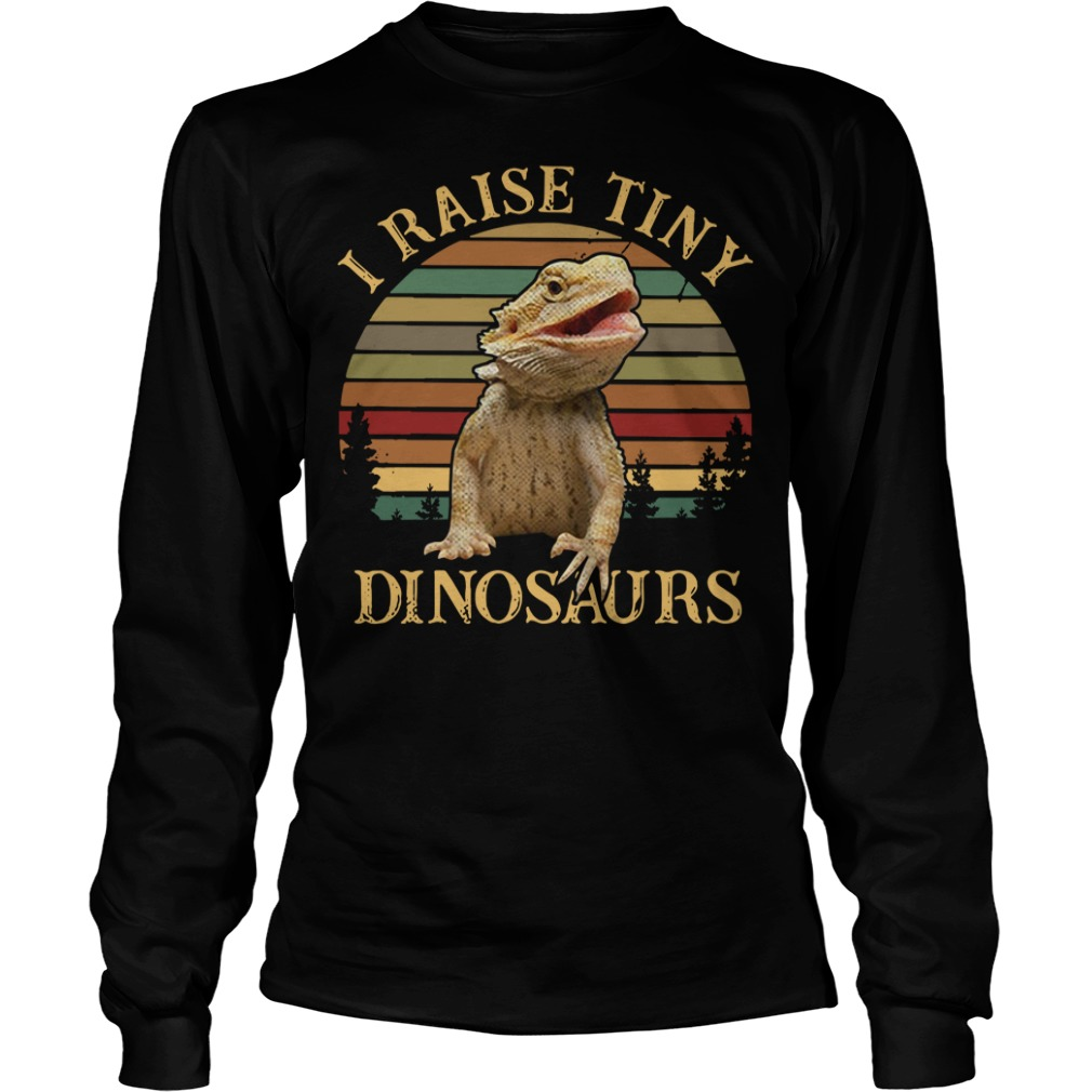 Sunset I raise tiny dinosaurs Longsleeve Tee