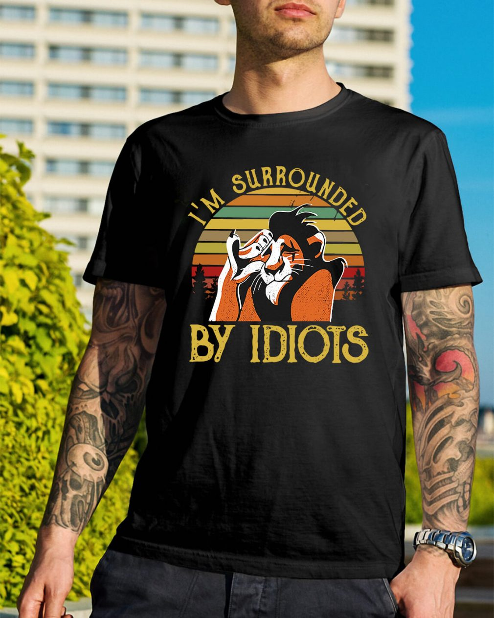 Sunset I'm surrounded by Idiots Shirt