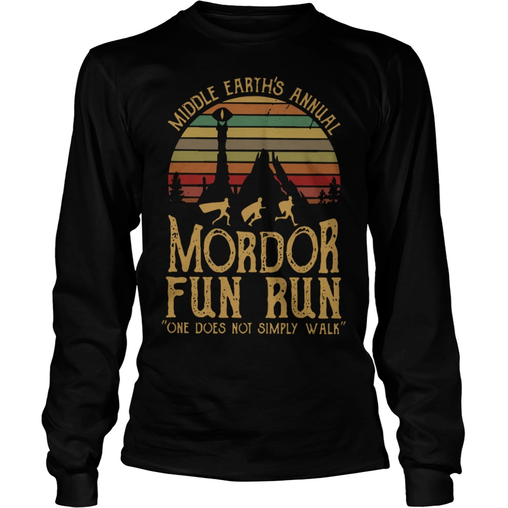 Sunset Middle Earth's annual Mordor fun run one does not simply Longsleeve Tee