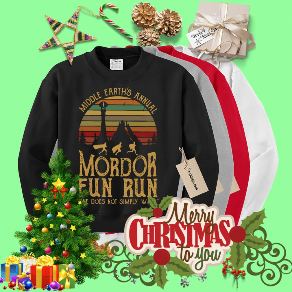 Sunset Middle Earth's annual Mordor fun run one does not simply Sweater