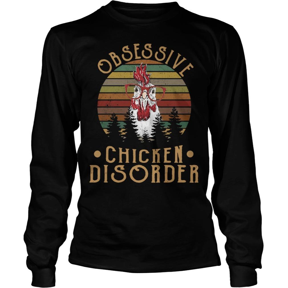 Sunset obsessive chicken disorder Longsleeve Tee