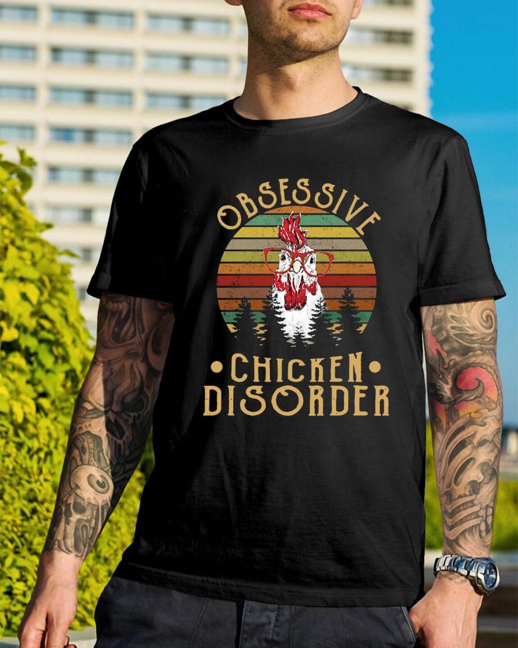 Sunset obsessive chicken disorder shirt