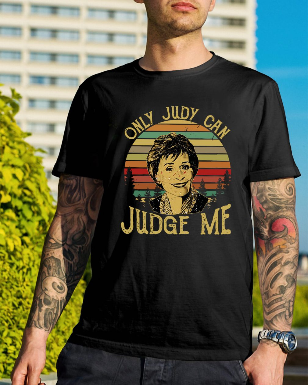 Sunset only Judy can Judge me shirt