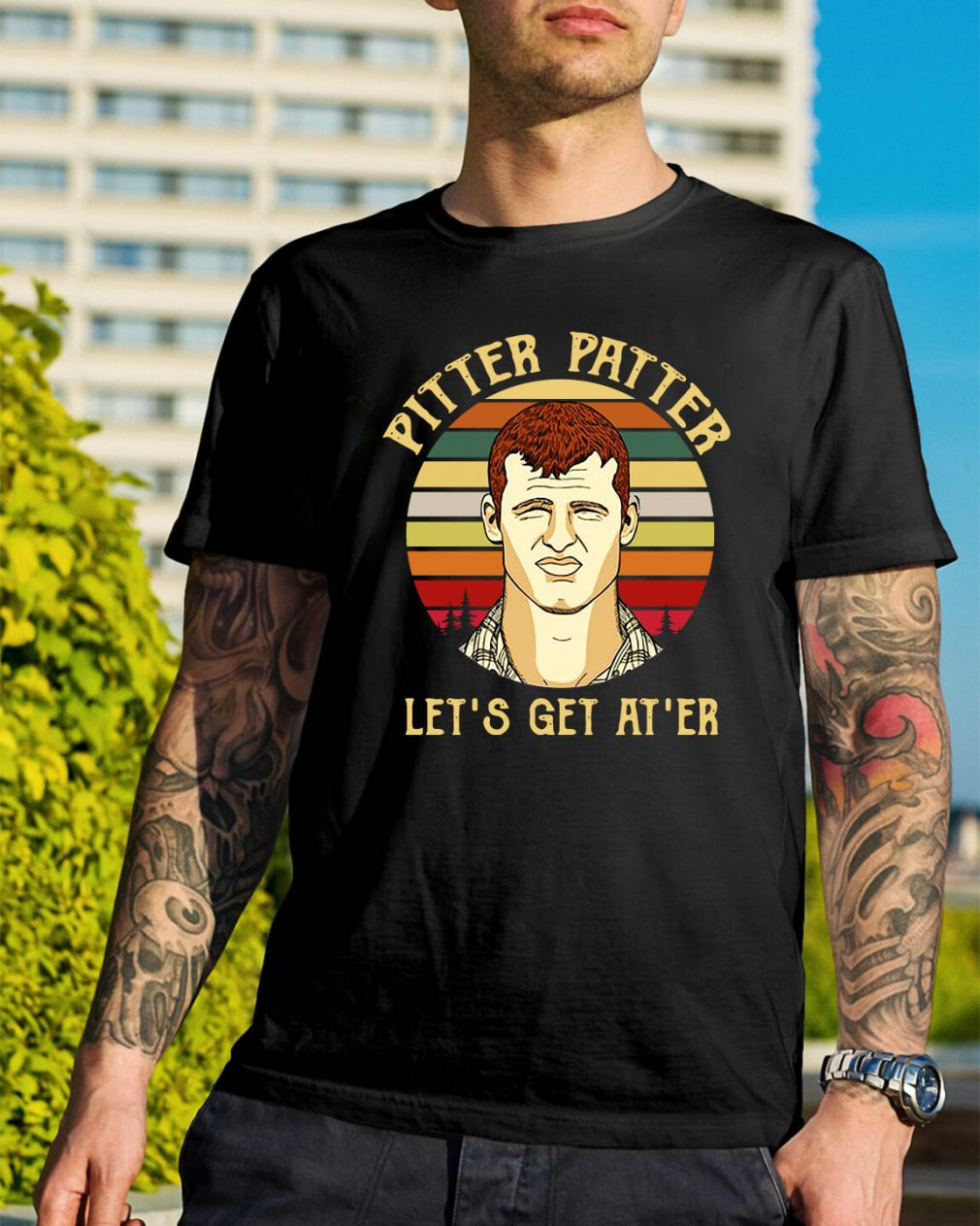 Sunset Pitter Patter let's get at'er shirt