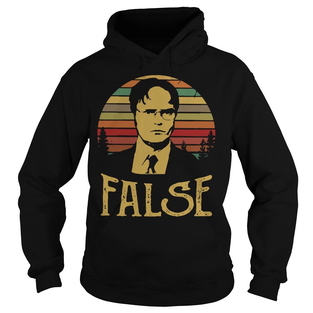 Sunset retro Dwight Schrute False Hoodie