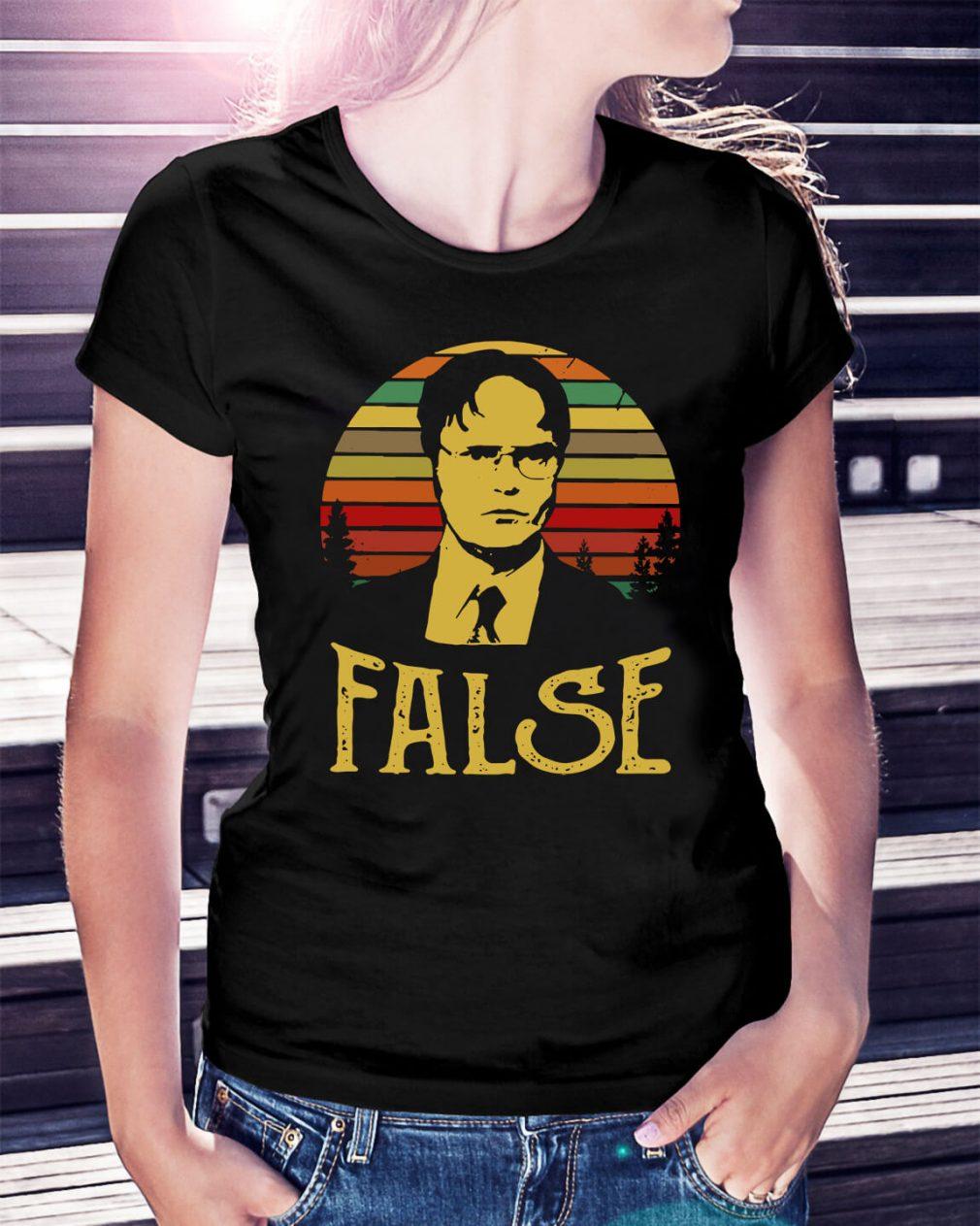 Sunset retro Dwight Schrute False Ladies Tee
