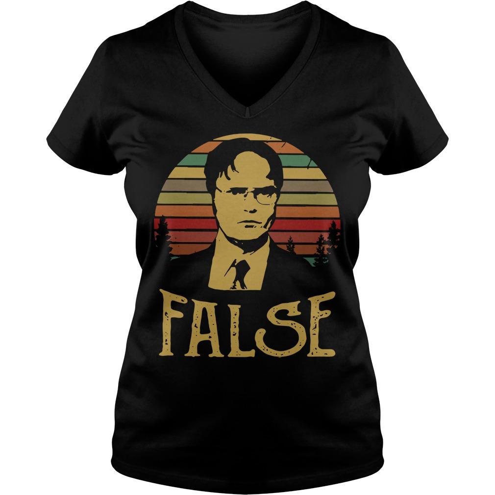 Sunset retro Dwight Schrute False V-neck T-shirt