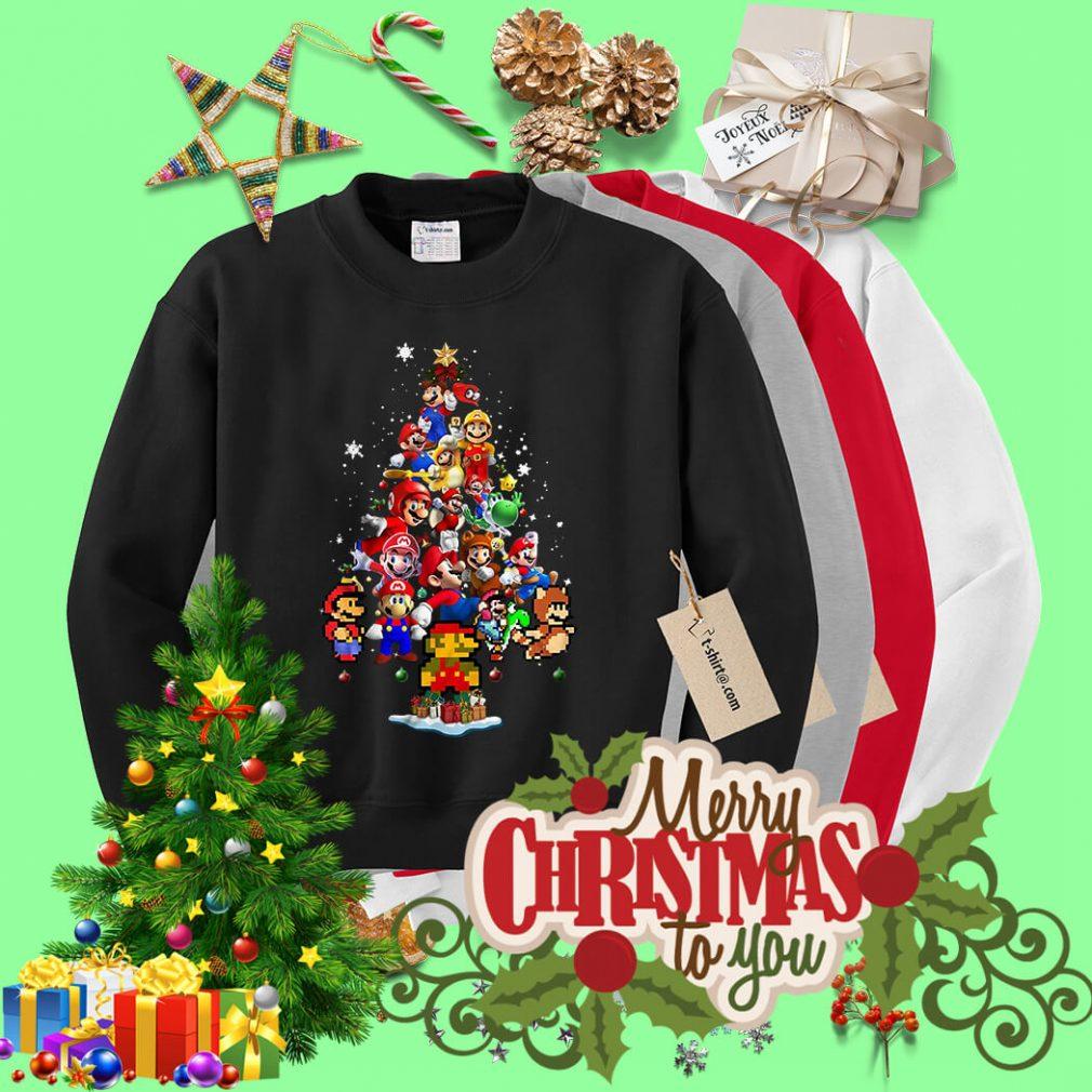 Super Mario Christmas tree shirt, sweater