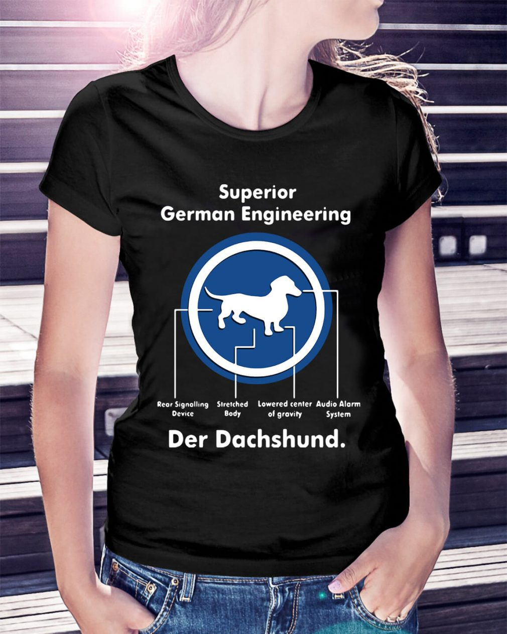 Superior German Engineering der Dachshund Ladies Tee
