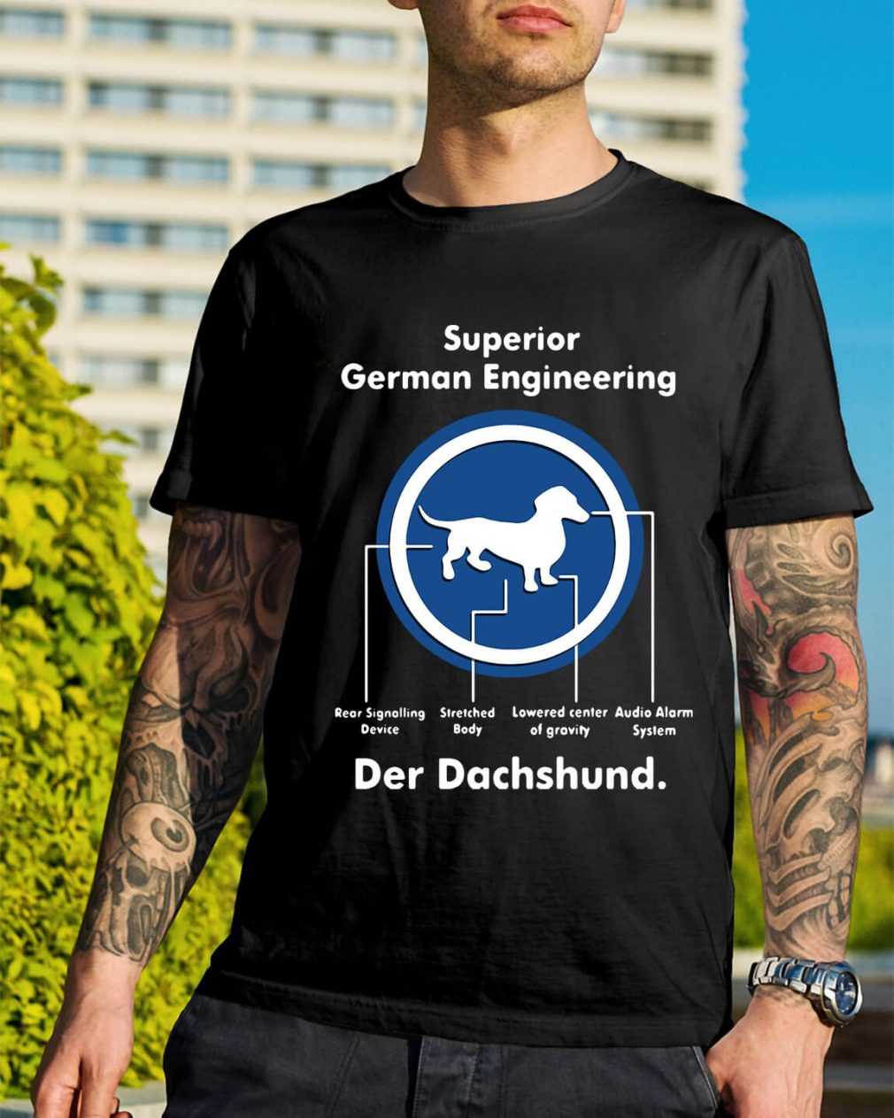 Superior German Engineering der Dachshund shirt