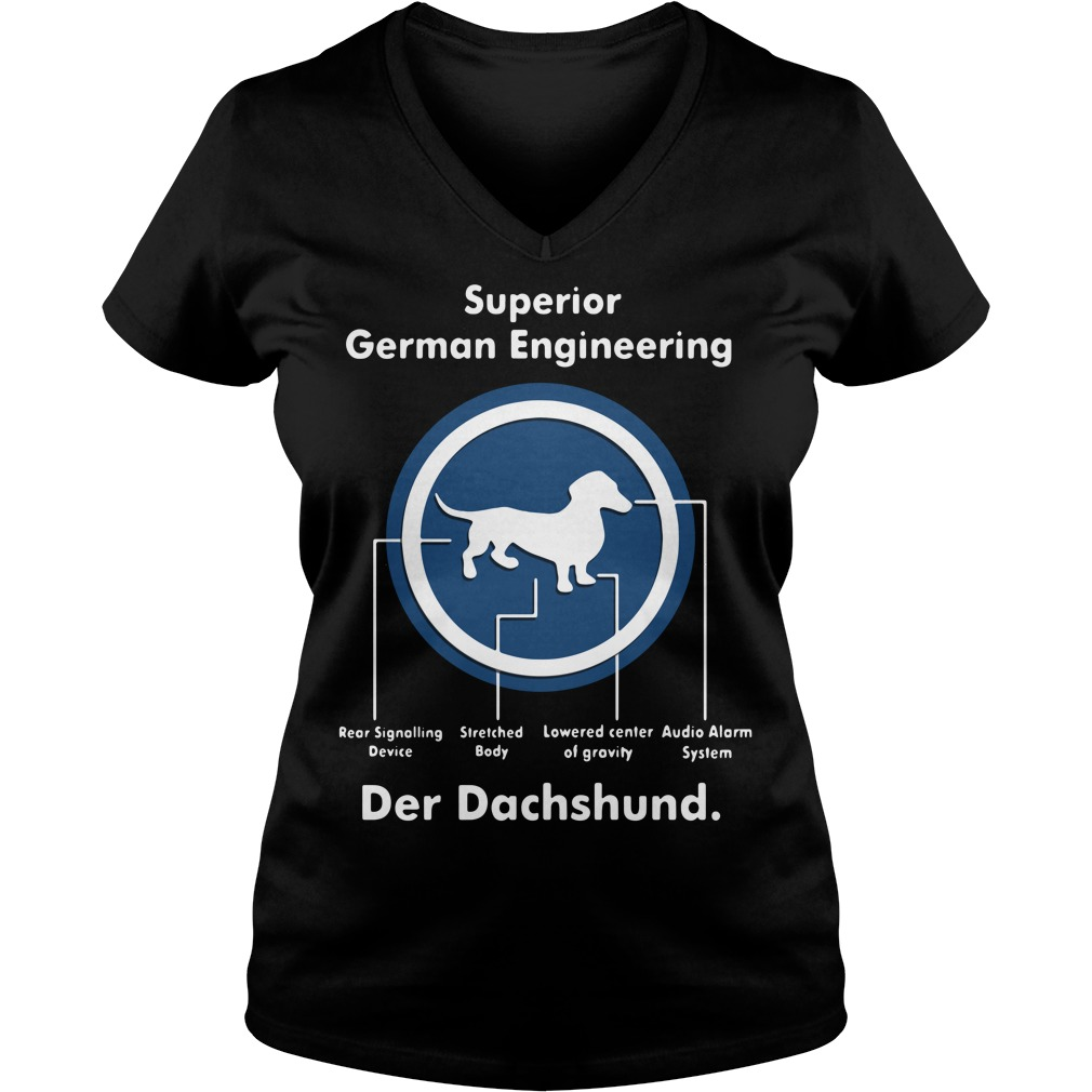 Superior German Engineering der Dachshund V-neck T-shirt