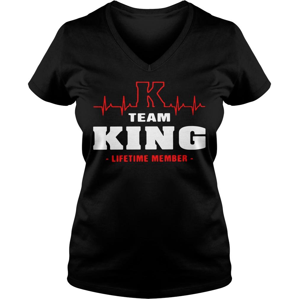 Team King lifetime member V-neck T-shirt