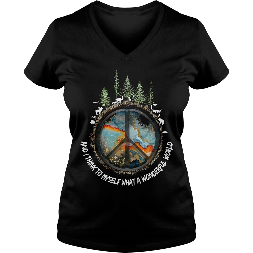 The earth's environment and I think to myself what a wonderful world V-neck T-shirt