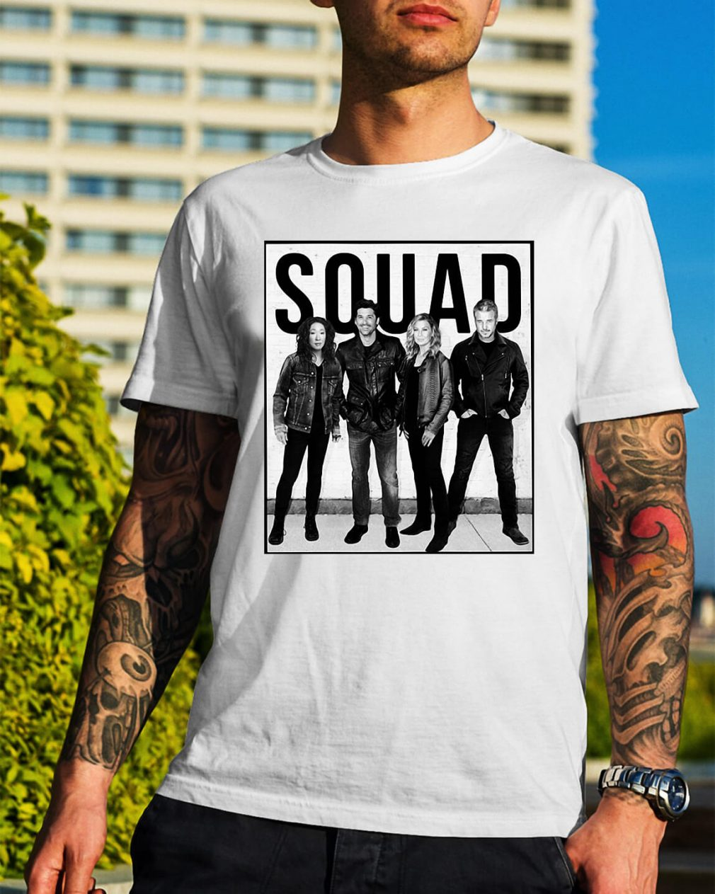 The Grey's Anatomy squad shirt