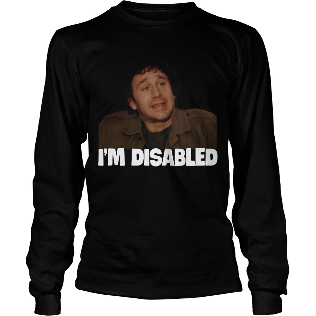 The IT Crowd I'm Disabled Longsleeve Tee