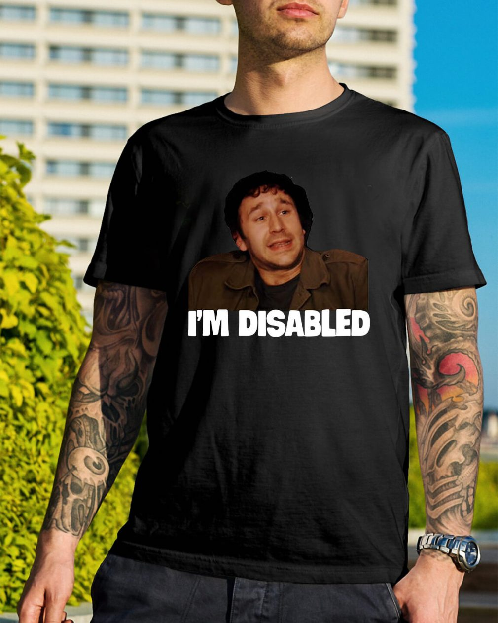 The IT Crowd I'm Disabled shirt