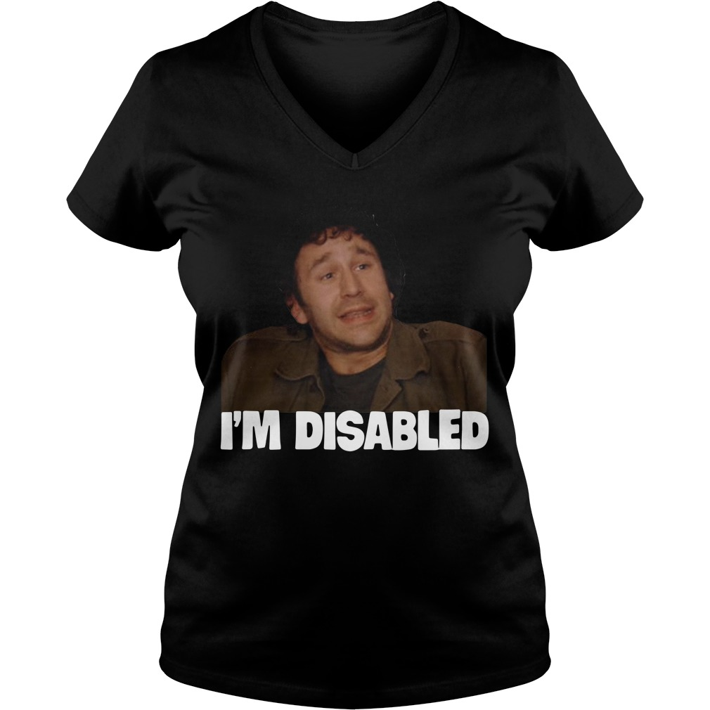 The IT Crowd I'm Disabled V-neck T-shirt