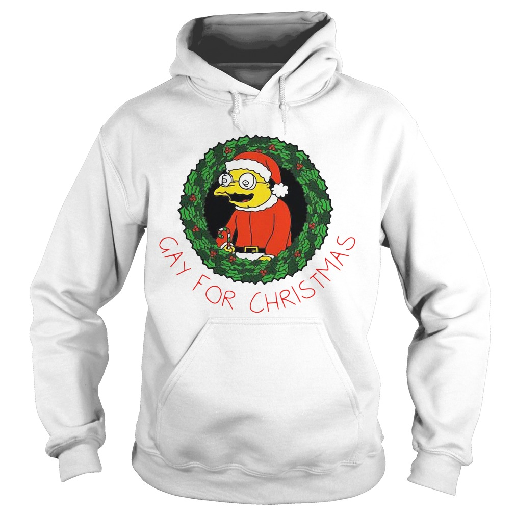The Simpsons gay for Christmas Hoodie
