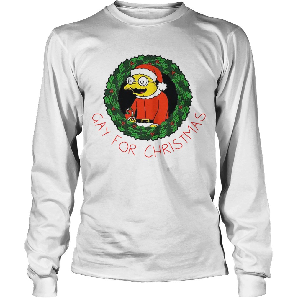 The Simpsons gay for Christmas Longsleeve Tee